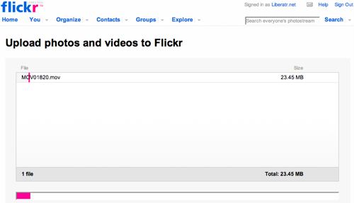Upload Videos to Flickr