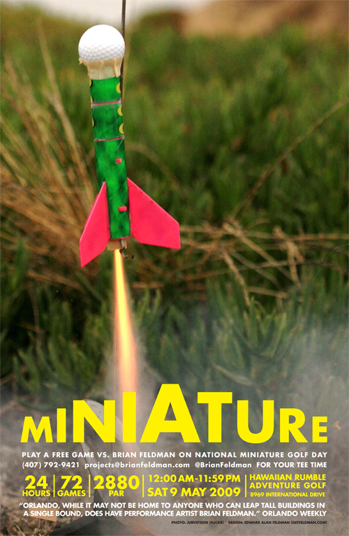 Brian Feldman's Miniature, this Saturday, May 9th