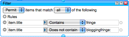 Filter keyword 1 and yourself