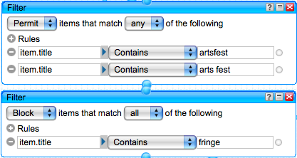 Filters for the second keyword
